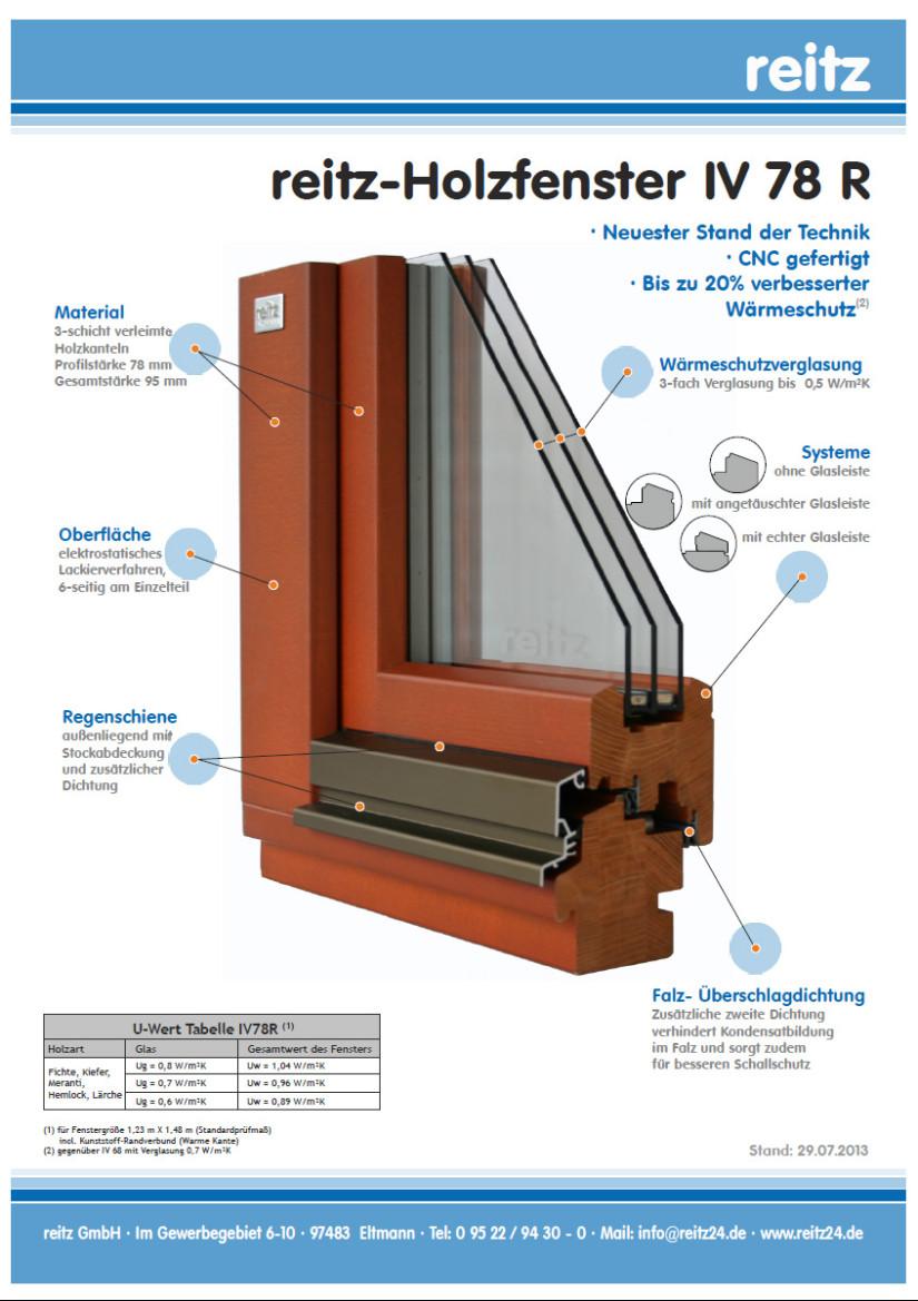 Neues Holzfenstersystem IV 78 R