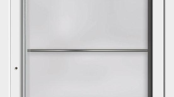 KHT-RB 6203 weiß, Glas: Motiv 2 mit Lisenen