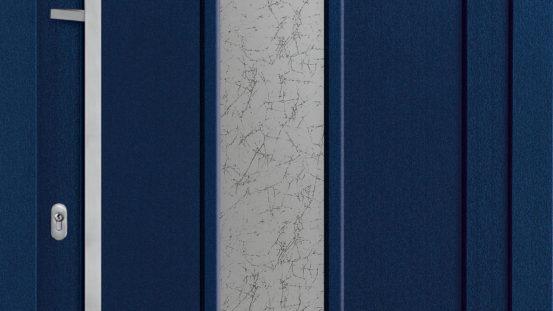 KHT-RB 6921 Dekor Stahlblau, Glas: Madras Uadi